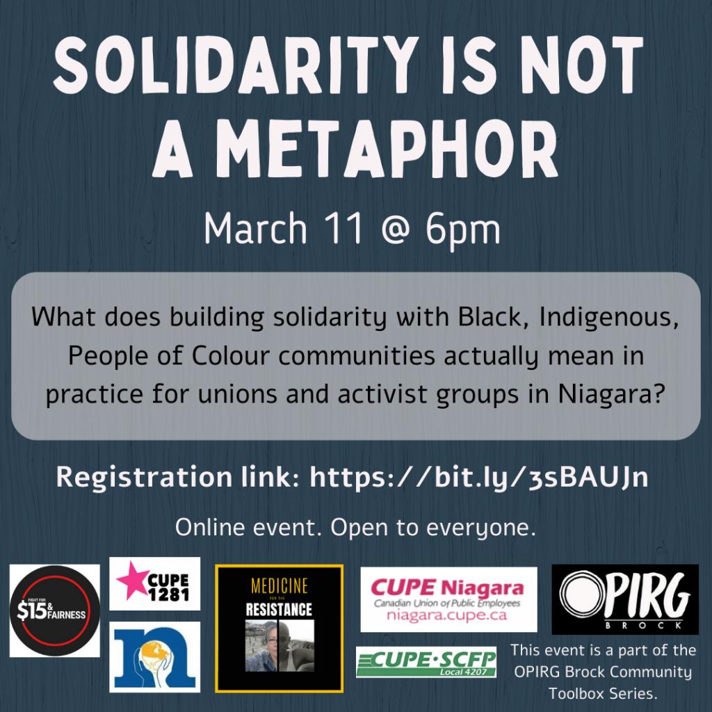 Solidarity is Not a Metaphor