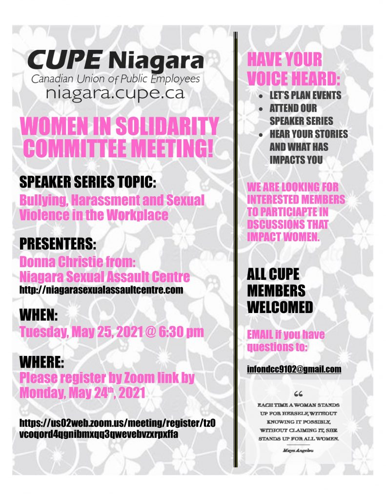 Women in Solidarity Meeting
