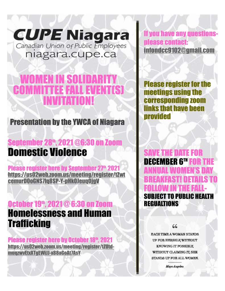Women in Solidarity Event: Domestic Violence